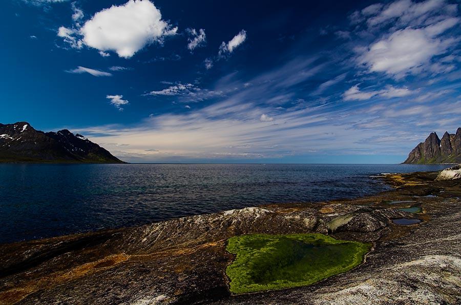 Küste auf der Insel Senja