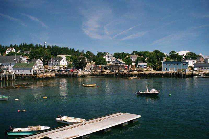 Küste in Maine  August 2001 (USA-Ost)