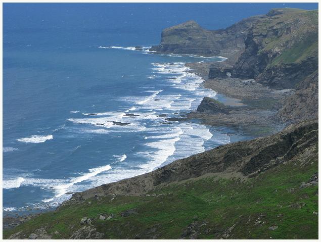 Küste nördlich von Boscastle, Cornwall