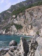 Küstenblick auf Korfu