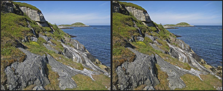 Küstenlandschaft auf Hillesøya (3D)
