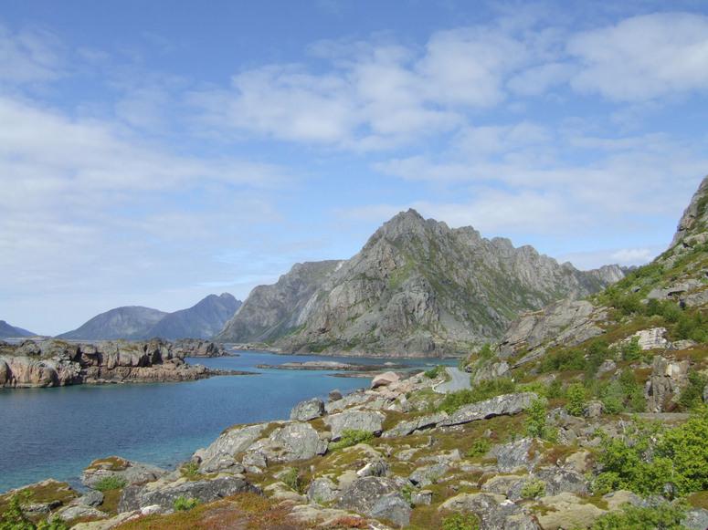 Küstenstraße auf den Lofoten
