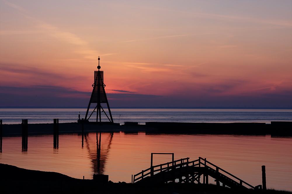 Kugelbake - kurz vor Sonnenaufgang