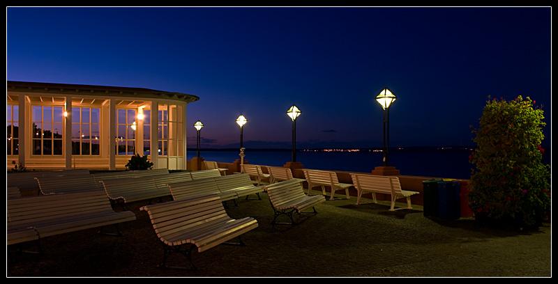 Kulturterasse Binz bei Nacht