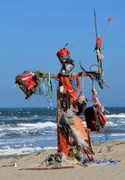 Kunst am Strand von Texel