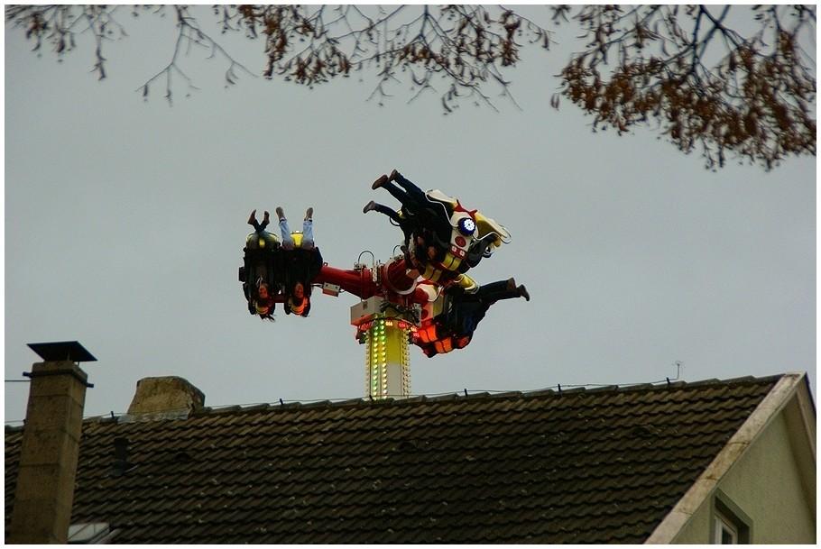 Kunst auf dem Dach !