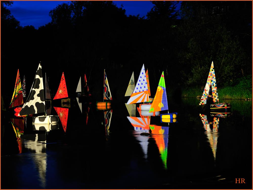 Kunst auf dem Fluß in Arnsberg