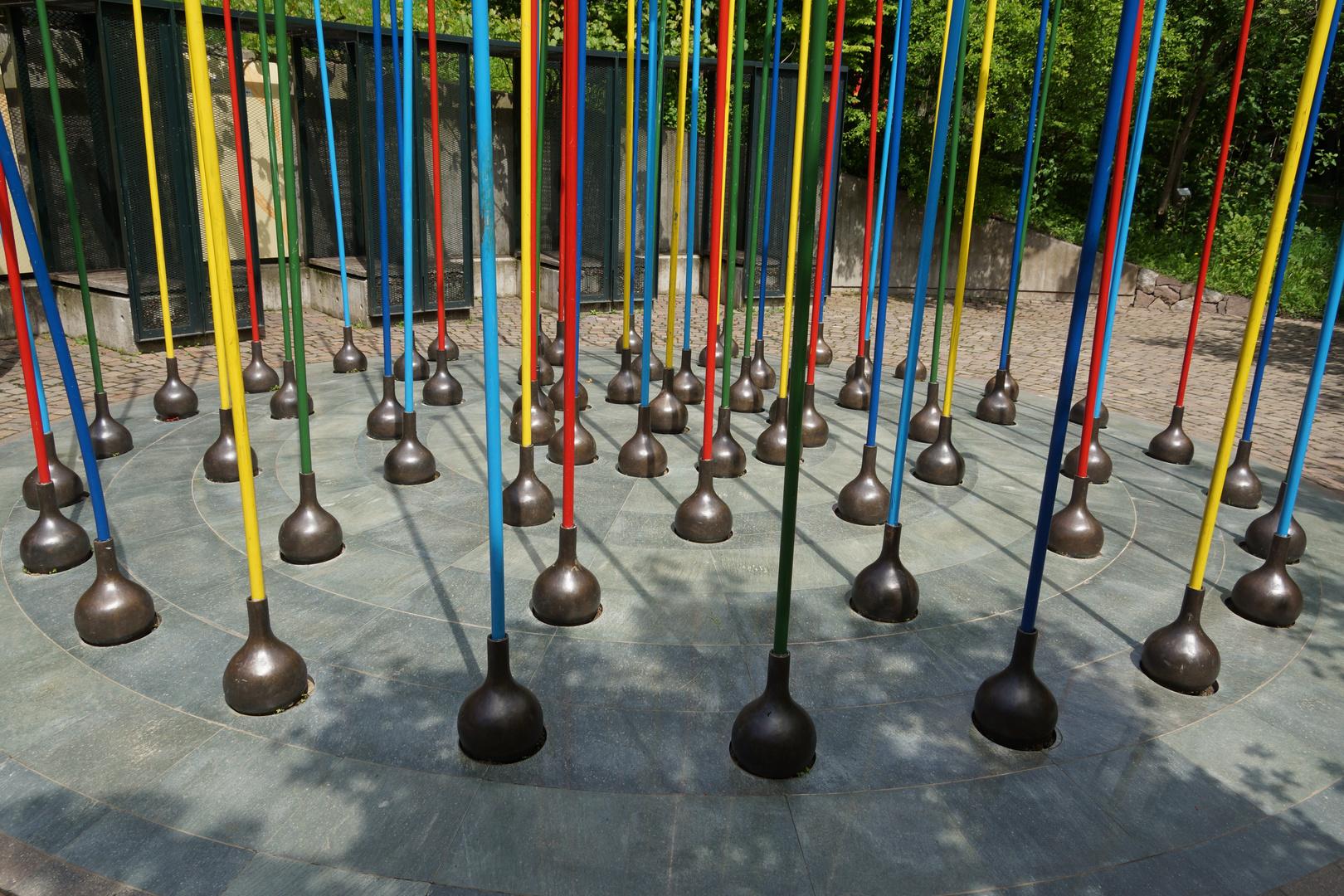 Kunst in den  Gärten von Trauttmanndorff / Meran