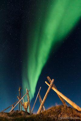 Kunst in der Natur - Aurora borealis