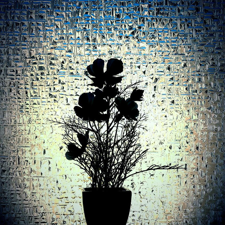 Kunstblumensilhouette