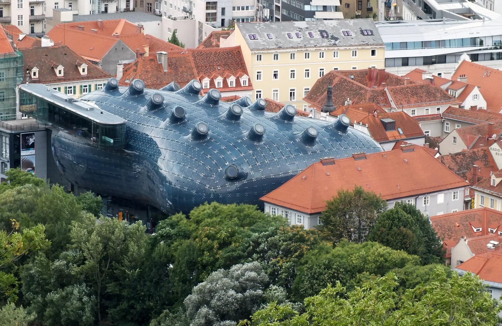 """Kunsthalle in Graz oder auch """"friendly alien"""" genannt"""