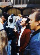 Kunstkopf vor dem WTC 1977 in New York