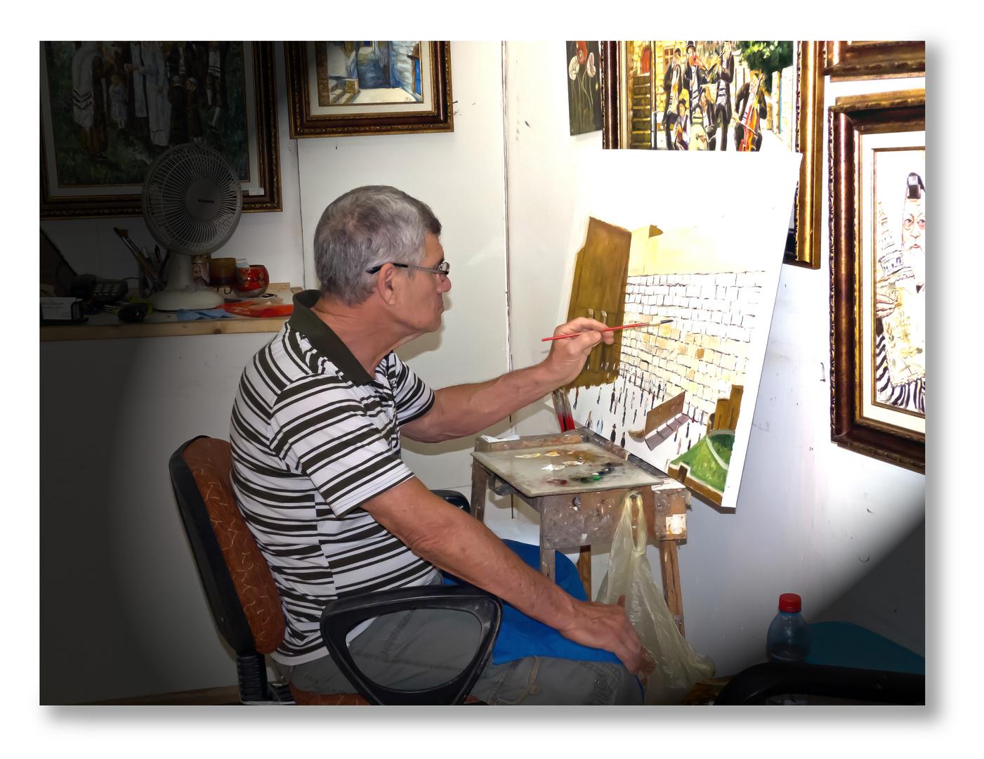 Kunstmaler in Zefat, Iarael