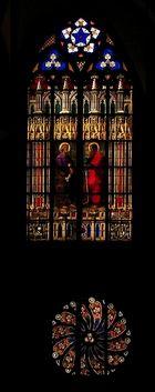 Kunstvolle Münsterfenster ....