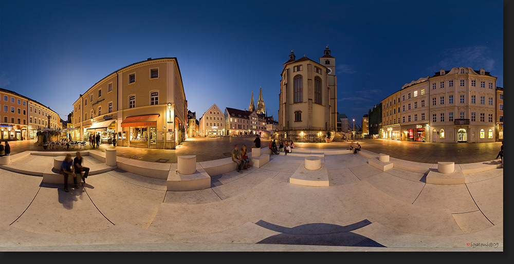 "Kunstwerk ""Dani Karavan"" am Neupfarrplatz in Regensburg in 360°"