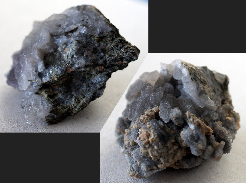 Kupferschiefer mit Calcit- und Quarzkristallen