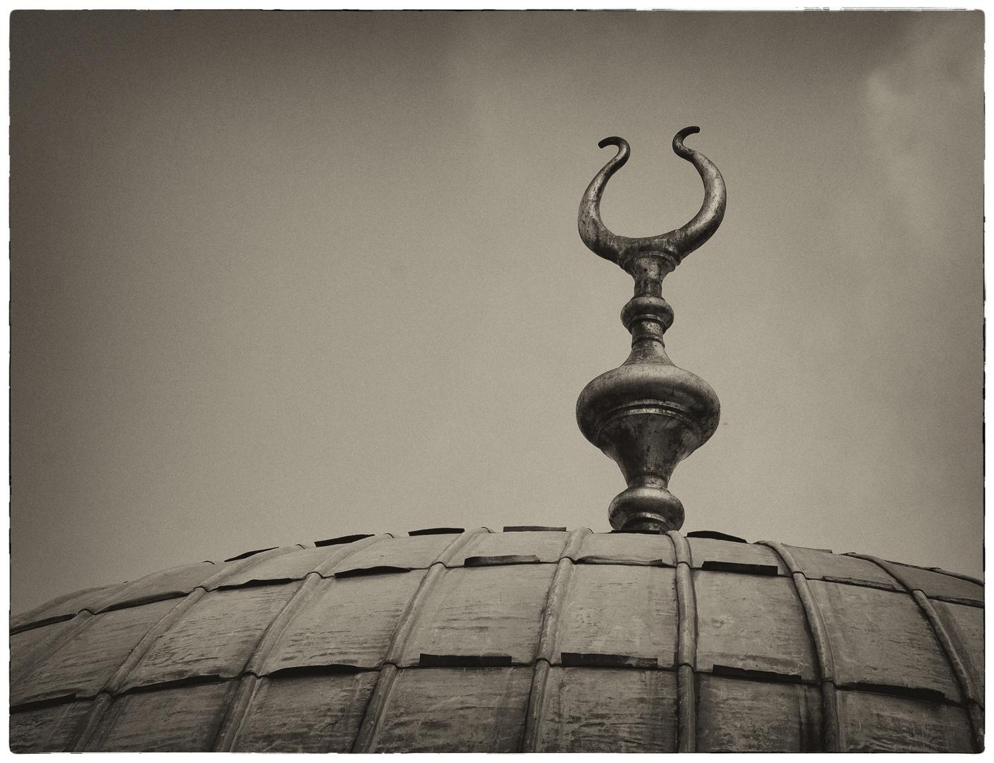 """Kuppel der ,,neuen Moschee"""" in Istanbul..."""