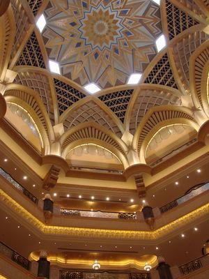 Kuppel des Emirate Palace Abu Dhabi