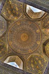 Kuppel im Inneren der Shah Moschee