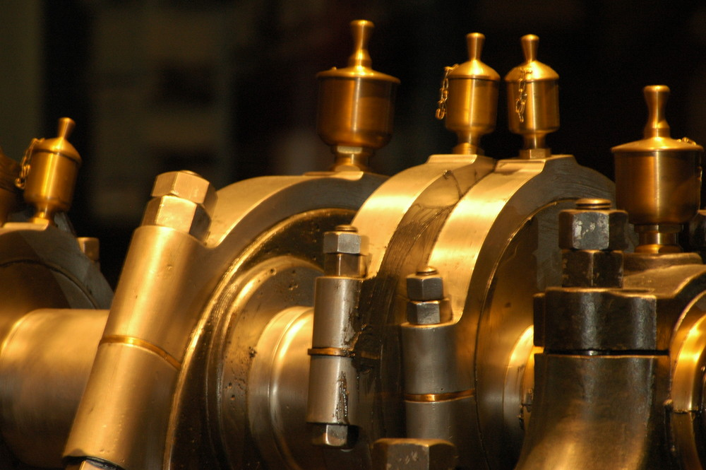 Kurbelwelle eines Dampfmotors - Technisches Museum Berlin