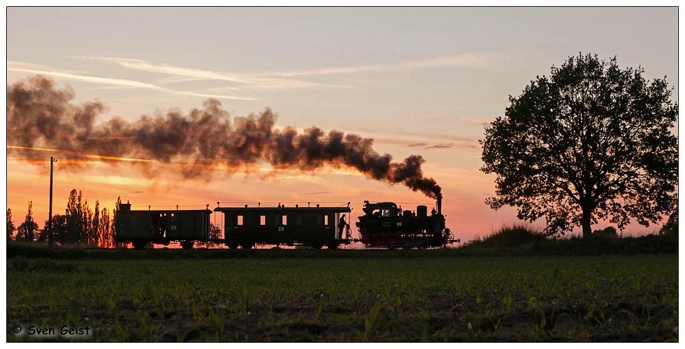 Kurz nach Sonnenuntergang bei Lindenberg