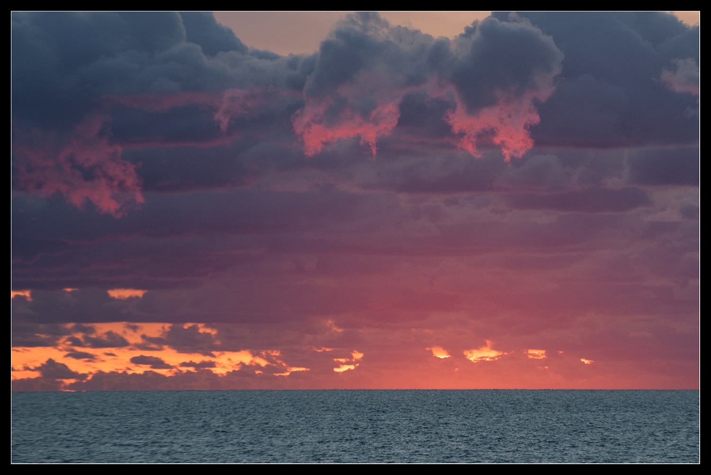 Kurz nach Sonnenuntergang ...