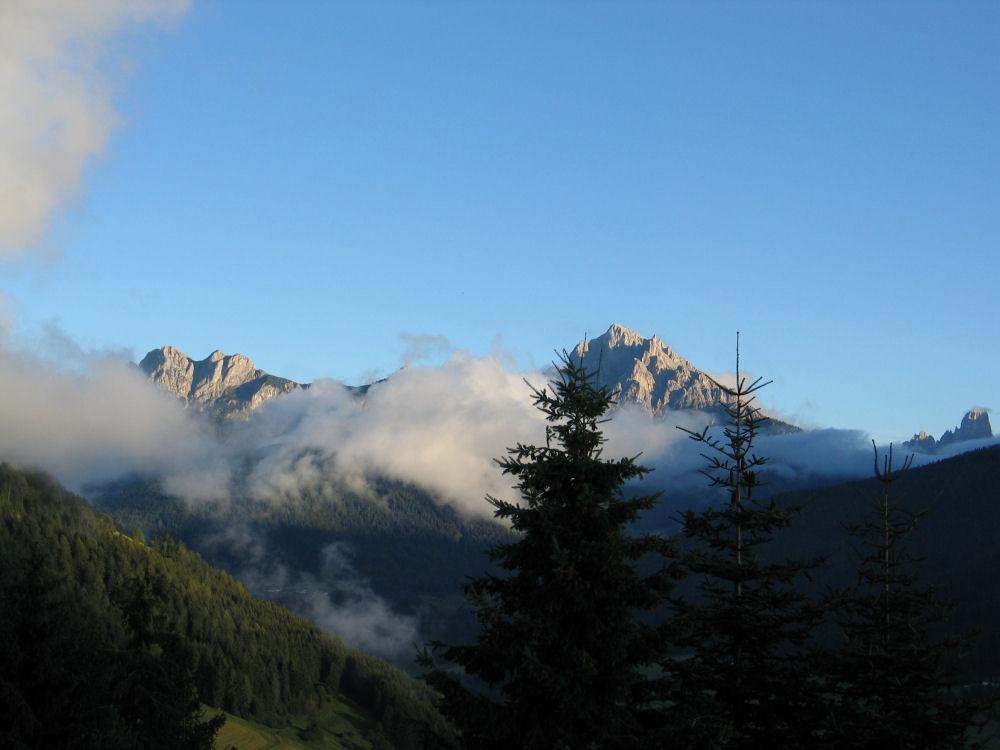 Kurz vor dem Alpenglühen