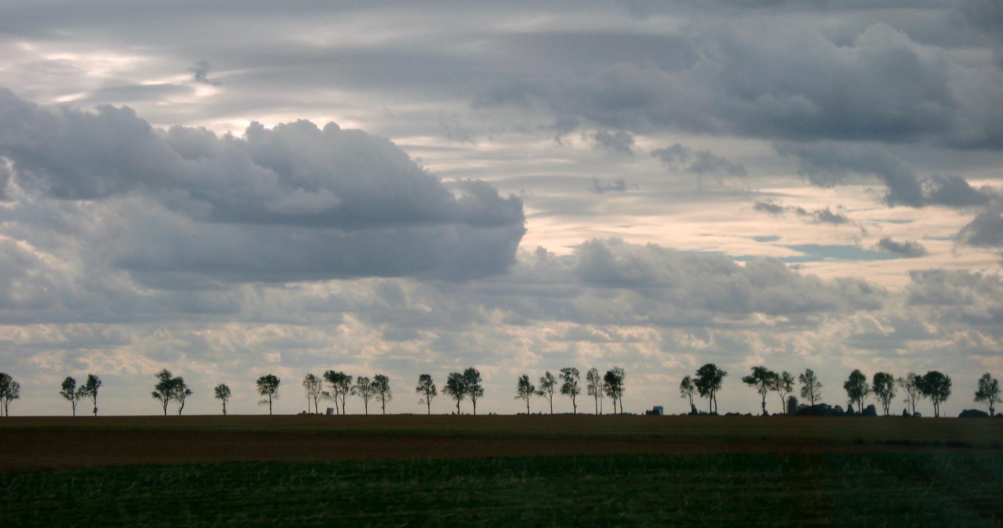 Kurz vor dem Einnachten in der Normandie