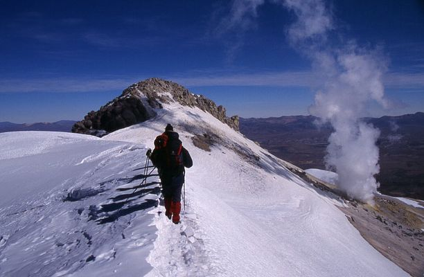 Kurz vor dem Gipfel ... über 6.000 m ...
