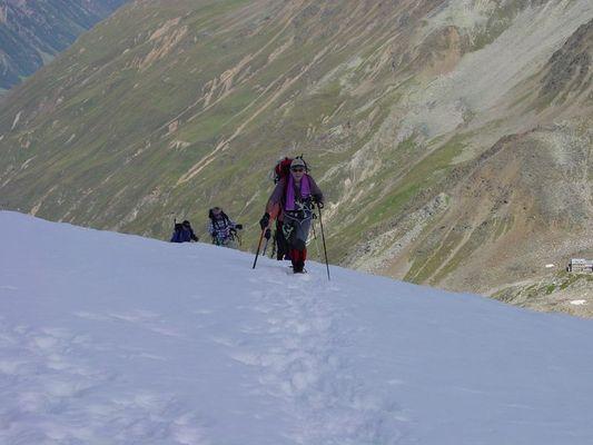 Kurz vor dem Gipfelkreuz