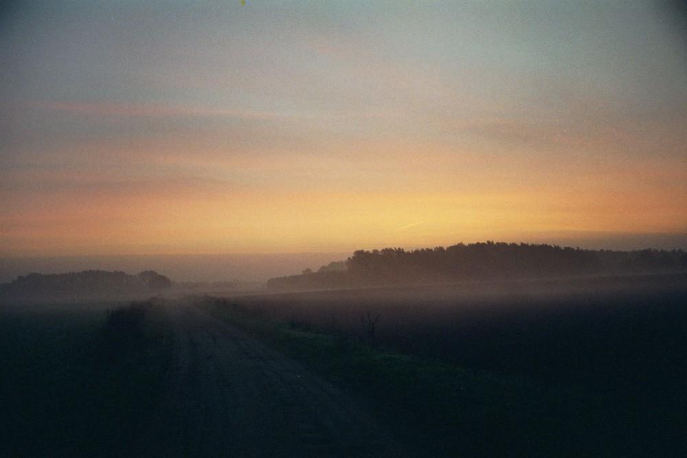 kurz vor dem Sonnenaufgang