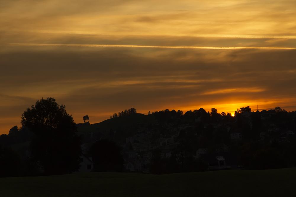 Kurz vor dem Sonnenaufgang ....