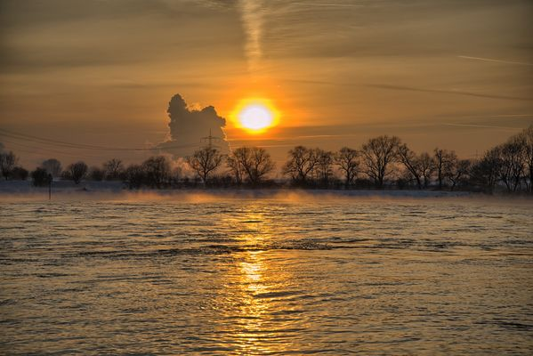 kurz vor dem Sonnenuntergang