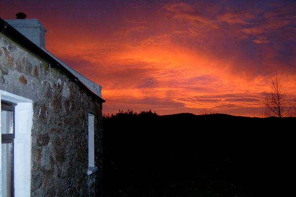 Kurz vor Sonnenaufgang am 4.Januar 2004 im Co.Donegal (Irland)
