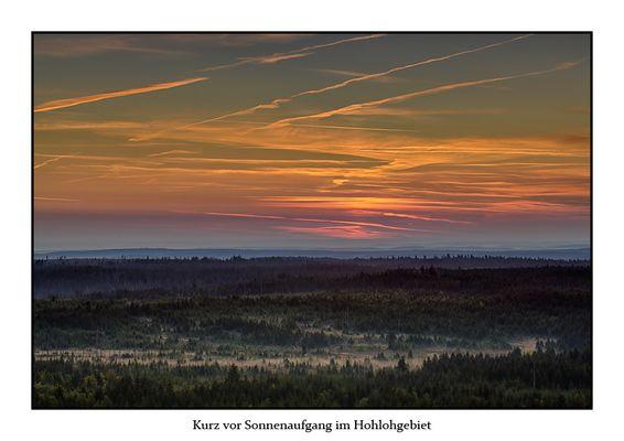 Kurz vor Sonnenaufgang im Hohlohgebiet
