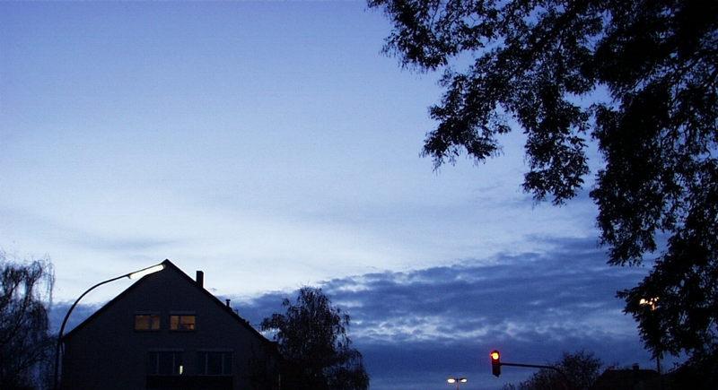 Kurz vor Sonnenuntergang in Lindental