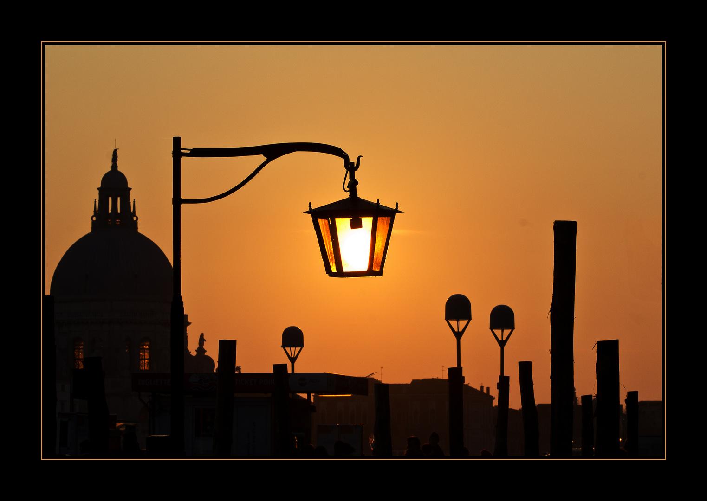 Kurz vor Sonnenuntergang in Venedig