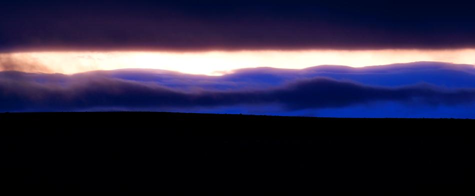 Kurze Abendstimmung bei Gaesavötn, Island zentrales Hochland