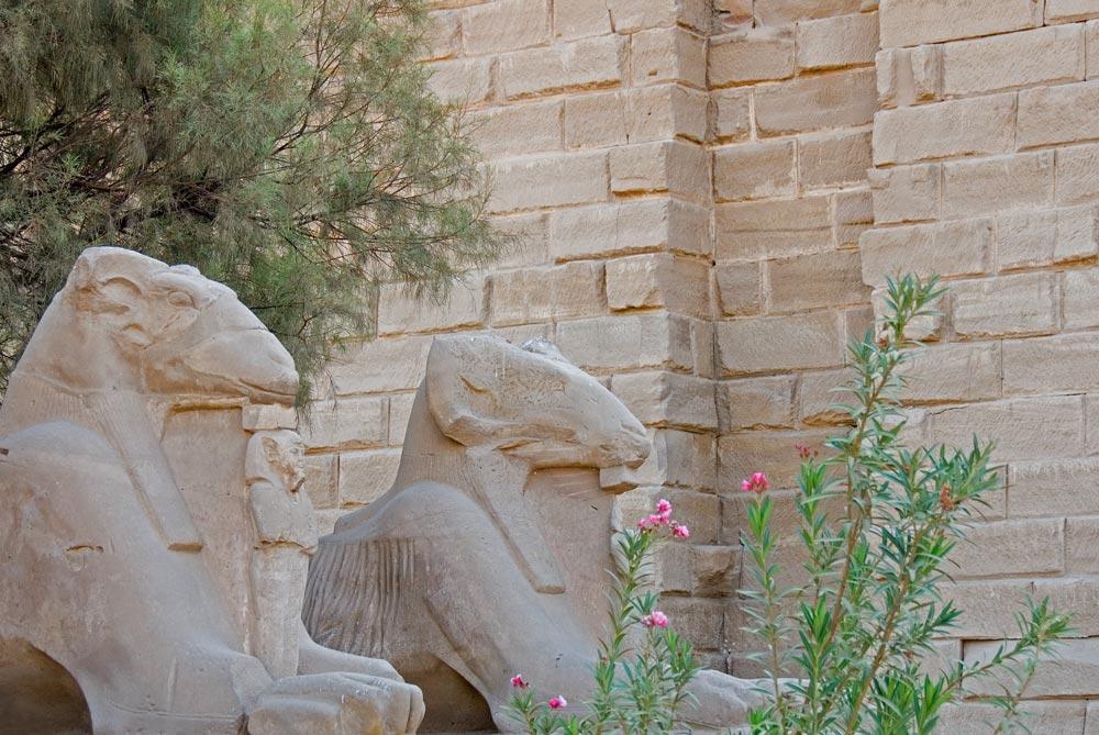 Kuschelecke im Karnak Tempel