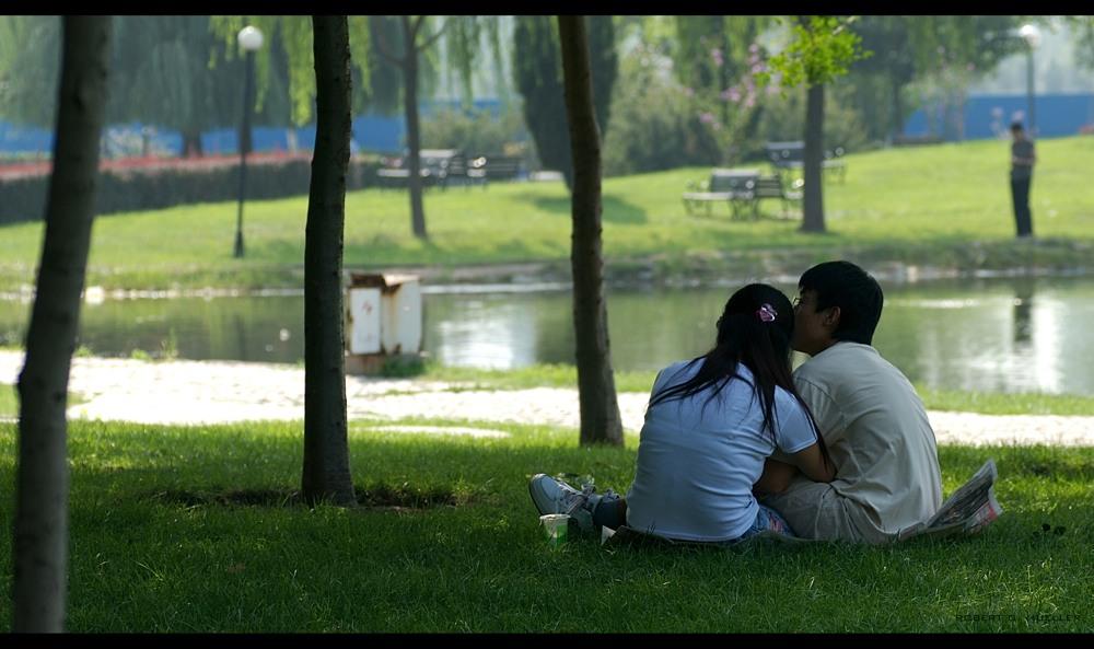 kuscheln im Park