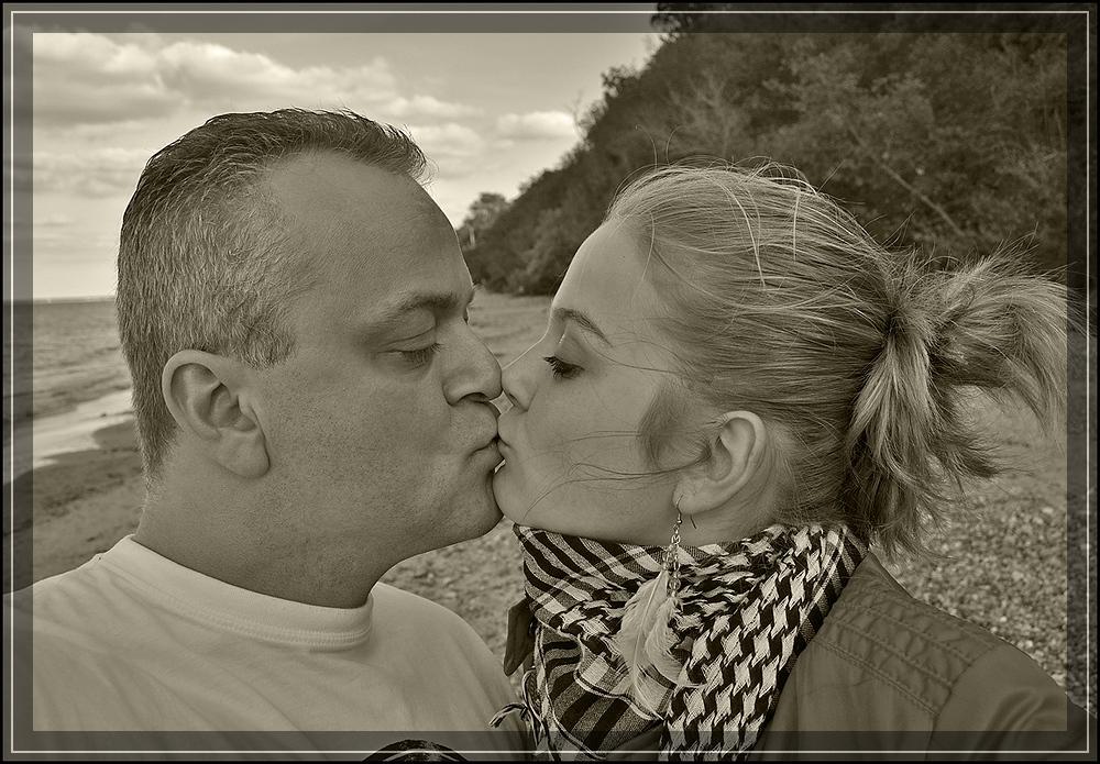Kuss mit Daddy