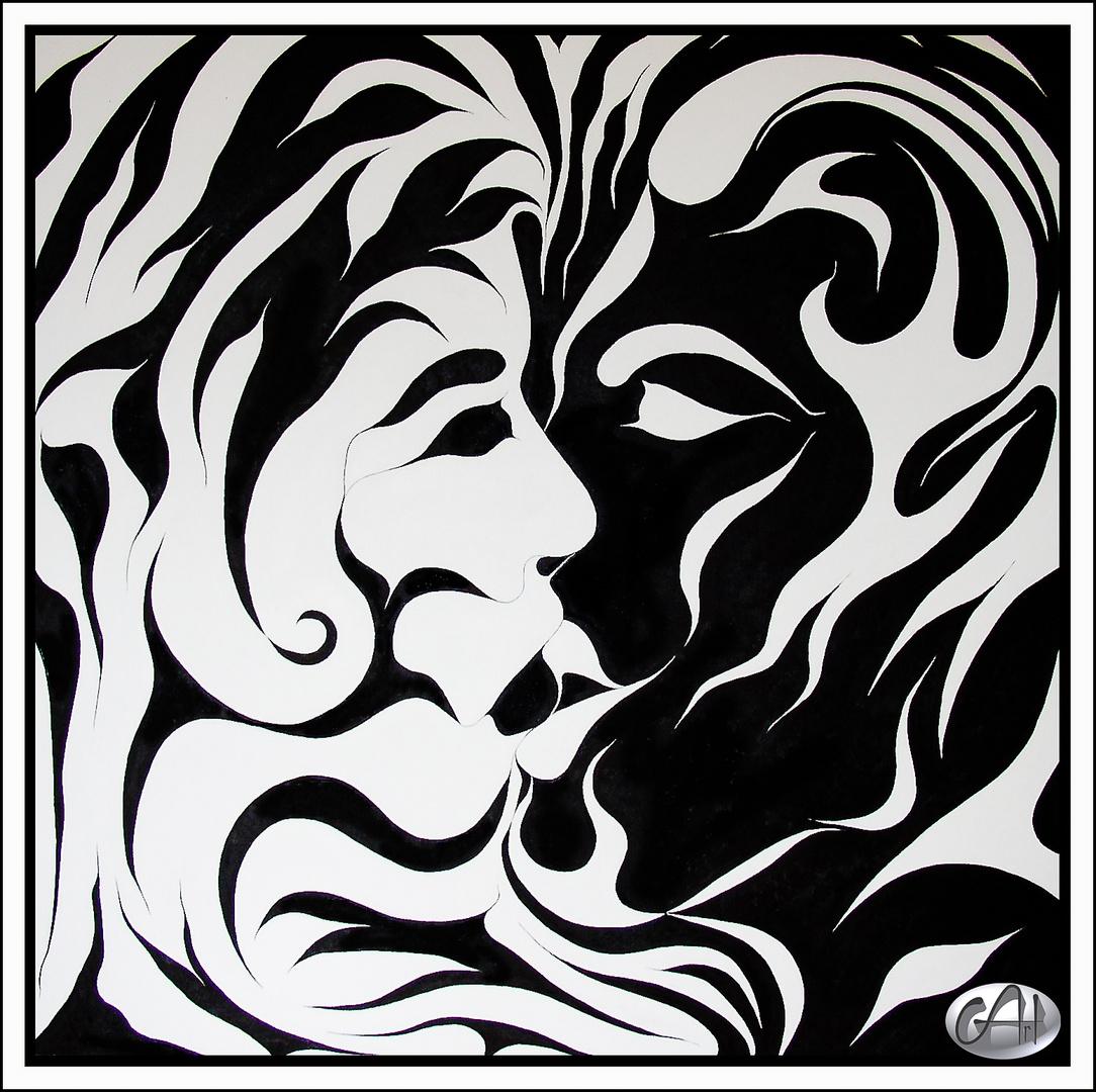 Kuss (Ölmalerei)