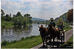 Kutsche am Weserufer