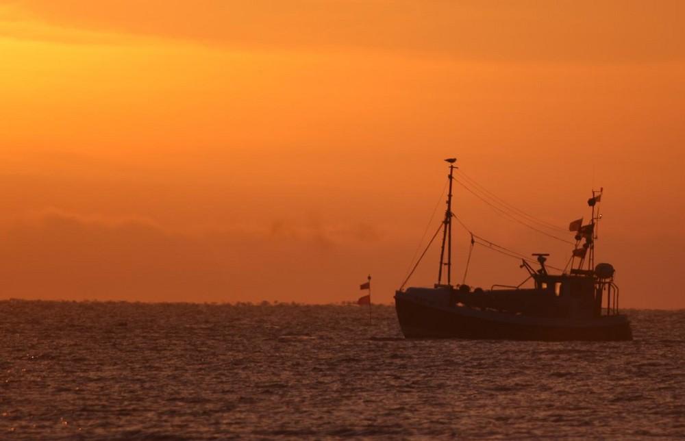 Kutter auf der Ostseeküste vor Damp