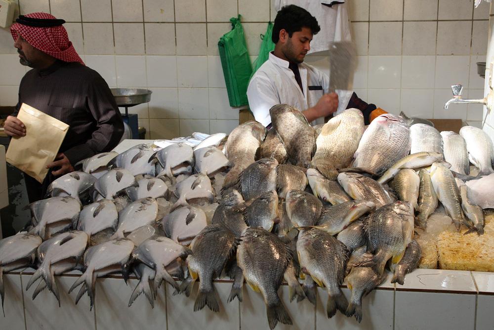 Kuwait Fischmarkt.