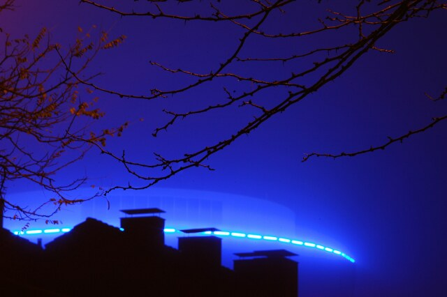 KWU-Turm bei Nacht & Nebel