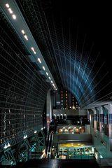 Kyoto Bahnhofshalle bein Nacht