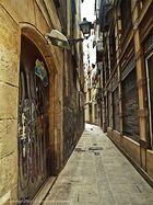 La Barcelona Gótica ( Carre d'en Rauric Barcelona )