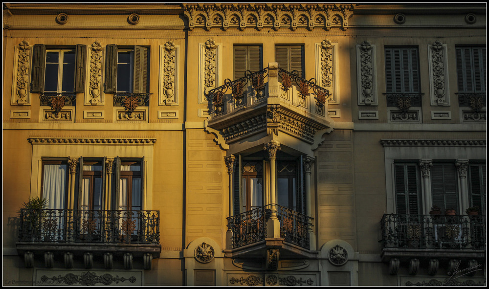 La Barcelona modernista (Eixample balcones)