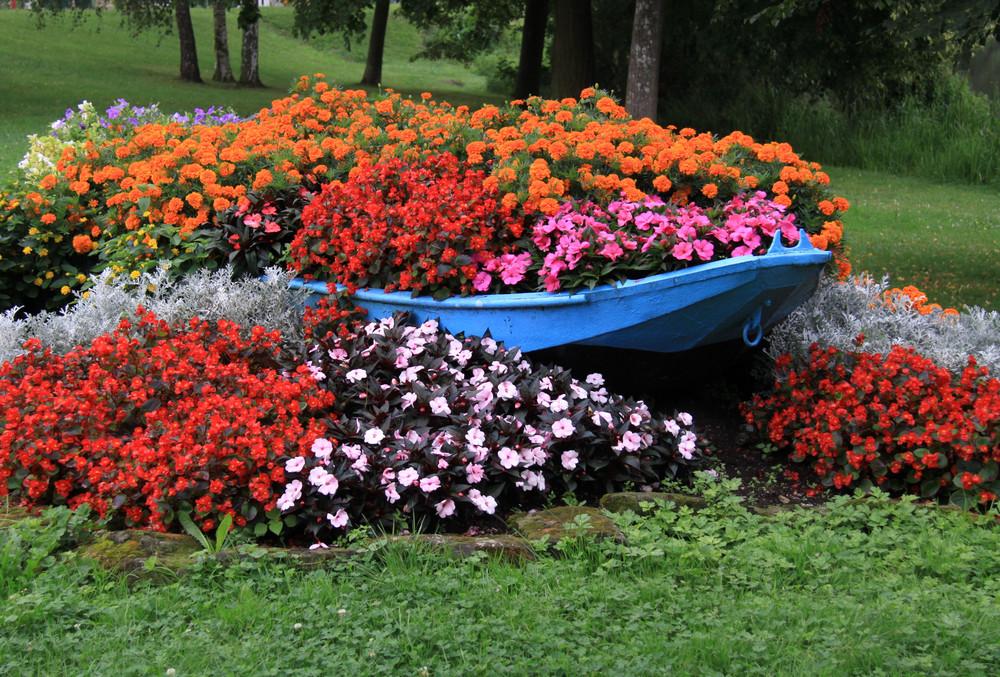 la barque de fleurs!